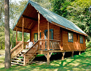 Lovely Brookside Log Cabins W/ Satellite TV ...