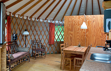 Yurts w/ satellite TV Interior