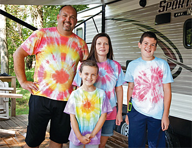Tie-Dye Family at Rose Point Park