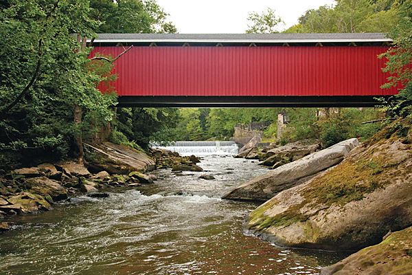Visit McConnells Mill State Park while staying at Rose Point Park